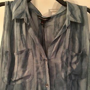 Blue Gray sleeveless top NWT